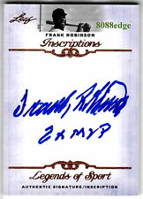"2012 LEAF INSCRIPTIONS AUTO: FRANK ROBINSON""2x MVP"" AUTOGRAPH AL/NL TRIPLE CROWN"