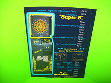 Arachnid ENGLISH MARK DARTS Super 6 Original NOS Arcade Game Promo Sales Flyer