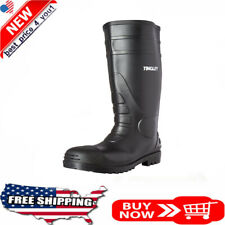 Rubber Kneed Boots Agriculture safe Black Pvc 15-In Mens Size 12 waterproof