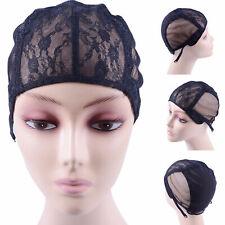 Spitze Mesh Volle Perücke Haarnetz Weben Kappe Perücken Verstellbare Straps