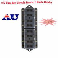 FUSE BLOCK BOX HOLDER Caravan 8 WAY 12V Circuit Standard Blade Holder Universal