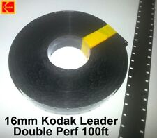 16mm Black Cine Double Perf Film Leader 100ft