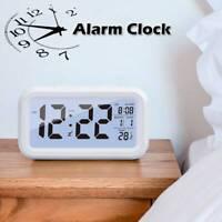 Réveil électronique LCD numérique Snooze avec calendrier contrôle rétroéclair LB