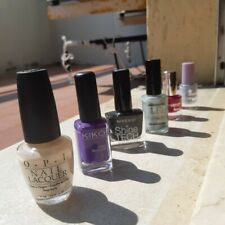 Lotto 6 smalti OPI ESSENCE YAMAMAY KIKO nail polish unghie viola lilla glitter