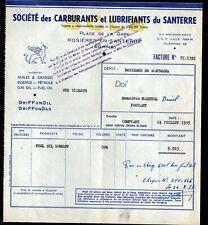 """ROSIERES-en-SANTERRE (80) CARBURANTS & LUBRIFIANTS / HUILES """"S.C.L.S."""" en 1957"""
