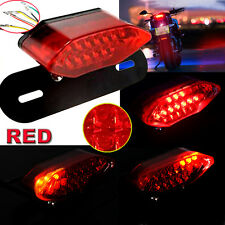 12V red 20LED Motorcycle Brake Tail Turn Signal License Plate Integrated Light