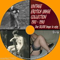 50000+ IMAGE VINTAGE EROTIC ART CORSETS/HEELS/FASHION COLLECTION DVD 1900/80 NEW