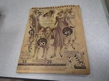 CATALOGUE AUX GALERIES LAFAYETTE CADEAUX 1934 *