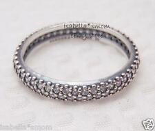 INSPIRATION WITHIN Authentic PANDORA Silver/CLEAR ZIRCONIA CZ Band~Ring 9/60 NEW