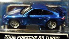 MAISTO 06 2006 PORSCHE 911 TURBO ALL STARS COLLECTIBLE AUTH DIECAST CAR MET BLUE