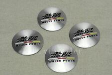 4Pcs For Silver Mugen Power Aluminum Alloy Car Wheel Center Caps Sticker Emblems