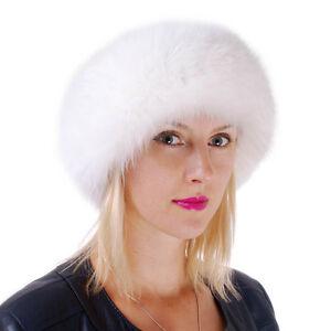 Genuine White Fox Fur Headband! Women Winter Fur Ear Warmer Natural Fur Ski FOX