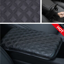 Car Black PU Leather Armrest Pad Cover Center Console Box Protecter Dustproof