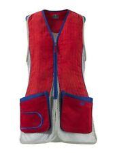 Beretta Women's DT11 Shooting Vest. Tango Red/Silver. Size Small.