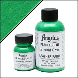 Angelus Acryl Lederfarbe Pearlescent Emerald Grün (457) 118ml (105,93€/1L)