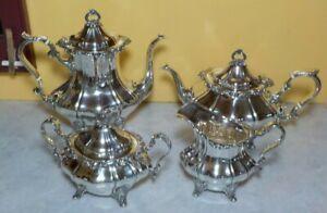 STRASBOURG GORHAM STERLING COFFEE TEA SET 4 PC 1041 42 43 44 POT SUGAR CREAMER