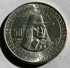 PANAMA HALF MEDIO BALBOA PROOF 1970 COIN BU SCARCE 30.61mm CONQUISTADOR