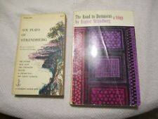 Lot of 2 August Strindberg books; Road to Damascus ; 6 Plays of Strindberg