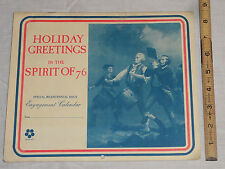 1976 Hood Dairy Holiday Greetings The Spirit Of 76 Bicentennial Issue Calendar