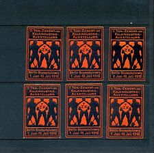 6  VINTAGE 1910 TON CEMENT INDUSTRY EXPO  POSTER STAMPS (L794) BERLIN GERMANY