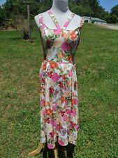 HEARTS & ROSES OF LONDON ROCKABILLY SWING DRESS WHITE FLORAL SZ 6