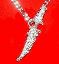 COOL Celtic Sword Dagger Real Sterling Silver 925 SHEATH Pendant Jewelry
