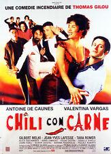 Affiche 40x60cm CHILI CON CARNE 1999 Antoine de Caunes, Gilbert Melki BE