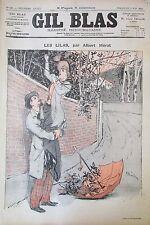 Zeitung Gil Blas Nr. 19 von 1892 Mérat Zeichnung Steinlen Noten- Musik Shoomard