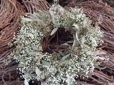 baby's breath & Eucalyptus Dried wreath, wedding, cottage decor, hand woven