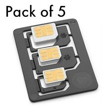 5X 3 in1 Nano/Micro to Micro/Standard SIM Card Adapter Tray For Samsung Motorola