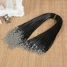 Wholesale bulk 10 pcs Fashion PU leather string black necklace cord 18