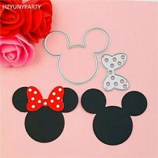 Fantastic Stencils Mickey And Minnie Bow Ear Metal Cutting Dies Design Scrapbook