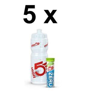 5 x High5 ZERO Electrolyte & Bottle Pack *10 Tabs* BBE 29/02/20 CHEAP BARGAIN