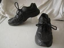 Dr Scholl's Leather Black Tennis Shoes  Sz 7.5W (SO-5)