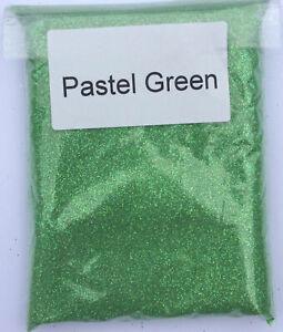 100g PASTEL GREEN Iridescent Glitter -ultra fine glass art craft festival