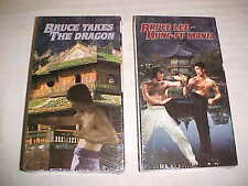 BRUCE LEE KUNG-FU MANIA & BRUCE TAKES THE DRAGON FACTORY SEALED VHS MOVIES TAPES