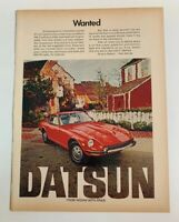 1972 Datsun 240Z 240-Z Wanted Vintage Advertisement Car Print Ad Nissan