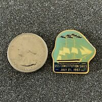 1997 USS Constitution Sails Old Ironsides Travel Souvenir Pin Pinback #38594