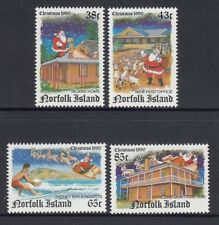 NORFOLK Island 1990 CHRISTMAS set of 4 Santa Claus  MNH