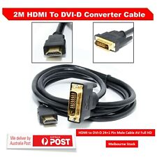 2M Gold Plated HDMI to DVI-D 24+1 Pin Male Cable AV Full HD PC LCD PS3 XBOX HDTV