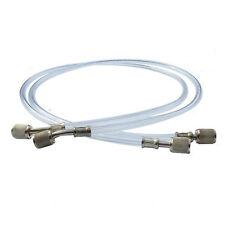 "2pcs A/C Transparent Tube Air Conditioner R134A R22 Coupling Hoses 1/4"" SAE"