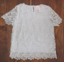 60c77a871e016 Womens Philosophy Vapor Gray Lace Top Shirt Blouse Size S Small