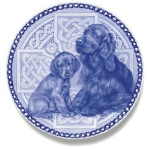Irish Setter - Dog Plate made in Denmark from the finest European Porcelain