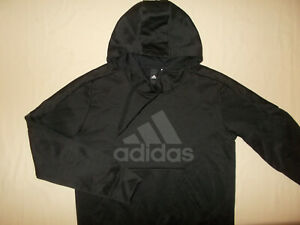 ADIDAS CLIMAWARM BLACK HOODED SWEATSHIRT WOMENS MEDIUM EXCELLENT CONDITION