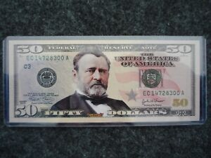 2004 USA - 50 Dollars Federal Reserve Note - Colored w/ COA - #13