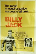 """VTG 1973 """"BILLY JACK"""" US 1SH 27X41 ORIG MOVIE FILM POSTER LAUGHLIN TAYLOR HOWAT"""