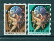 """Nations Unies Géneve 1974 - Michel n. 43/44 -  """"Année mondiale de la population"""""""