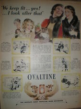 Ovaltine cartoon art advert 1952 My Ref R3