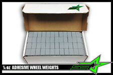 """2 BOXES OF 1/4 OZ WHEEL WEIGHTS """"PERFECT"""" BRAND 1248 PC STICK-ON ADHESIVE 312 OZ"""