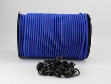 8mm Expanderseil blau 30m + 20 Spiralhaken Gummiseil Planenseil Haken Seil Plane